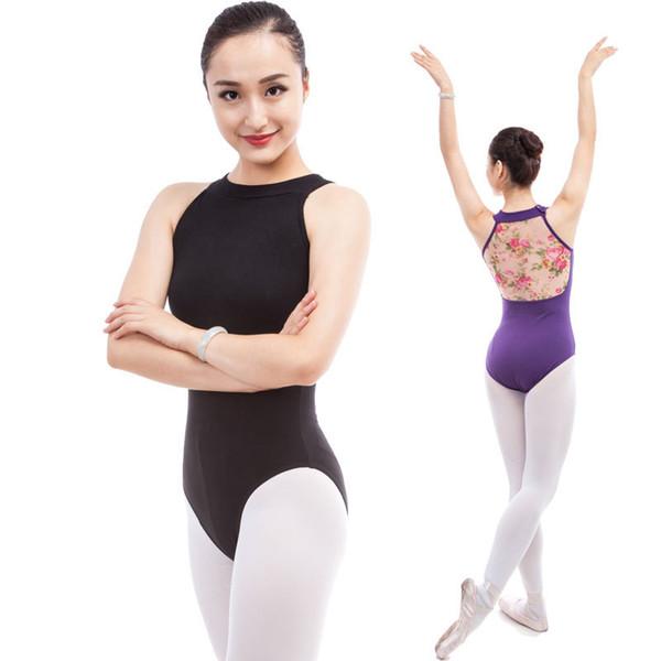 Балет танец рукавов боди сетки пряжи топы Stager производительность носить 2 цвета купальник балетная практика купальники одежда DWY923