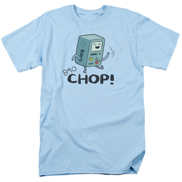 Adventure Time Cartoon BMO CHOP! Licensed Adult T-Shirt All Sizes Funny free shipping Unisex Casual tee gift