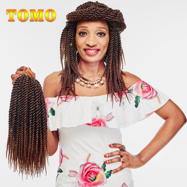 TOMO 12Inch Short Senegalese Twist Ombre Kanekalon Braid Hair Black Woman Synthetic Crochet Braids Hair Extensions For Braiding 22Roots/pack