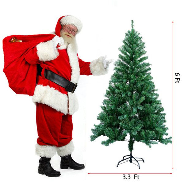 1.8M Height 6 Ft Christmas Tree Eco-friendly Artificial Pine Tree 800 Tips With Metal Stand Xmas Trees Christmas Decor For Home