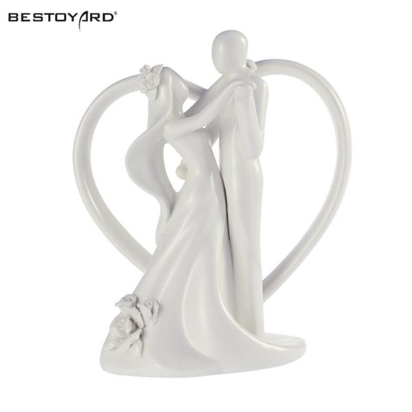 Романтический Жених И Невеста Свадьба Танцы Жених И Невеста С Сердцем Пара Фигурка Керамический Свадебный Торт Топпер