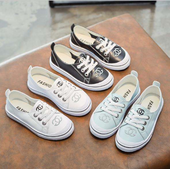 Best-selling New Summer Boys sports breathable leather casual shoes girls white shoes