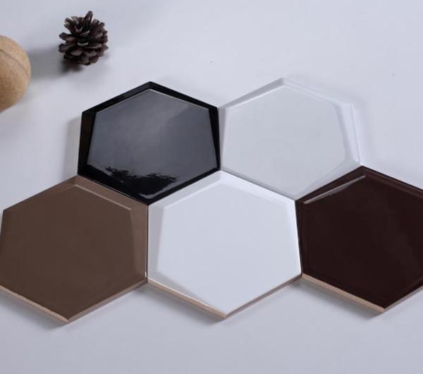 Carreaux hexagonaux vitrés antidérapants brillants