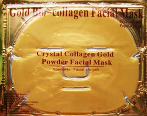 NEW Gold Bio-Collagen Facial Mask Face Mask Crystal Gold Powder Collagen Facial Masks Moisturizing Anti-aging beauty products