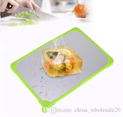Free Shipping Automatic Thawing Plate Cutting Board Fast Frozen Food Meat Fish Food Miracle Defrosting Tray Kitchen Gadgets Cooking Tools