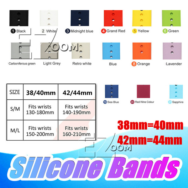 Newest Sports Silicone Bands Straps For Apple Watch Band Replace Bracelet Strap watchband Watchstrap for Apple Watch Series 4 3 2 1