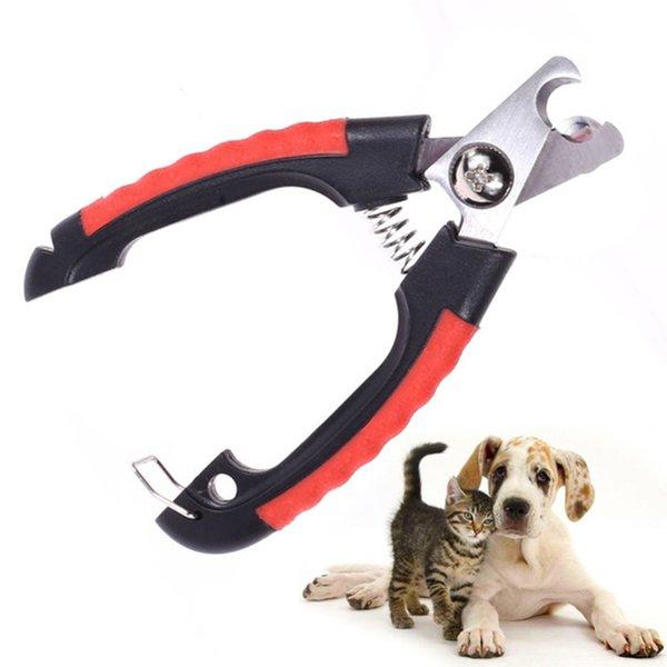 Profesyonel Pet Köpek Tırnak Makası Kesici Paslanmaz Çelik Bakım Makas Clippers Kediler köpek için Kilit ile