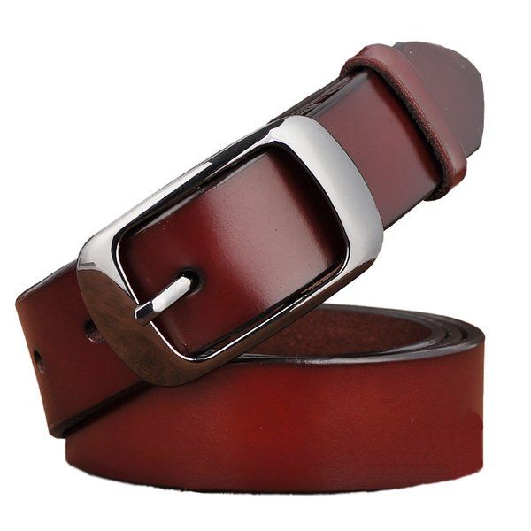 New Designer Fashion Women's Belts Genuine Leather Brand Straps Female Waistband Pin Buckles Fancy Vintage for Jeans