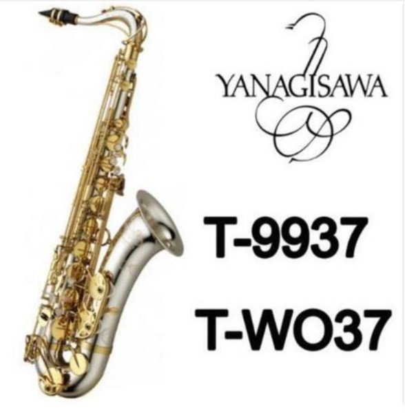 High quality Brand NEW YANAGISAWA WO37 Tenor Saxophone Silver plating Gold Key Professional Sax Mouthpiece With Case Shipping