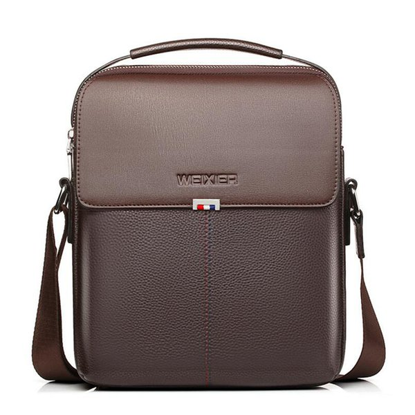 Brown Leather Bags For Man Business Briefcases Fashion Men's Shoulder Bags Men's Portable Handbags Cross Body Bags