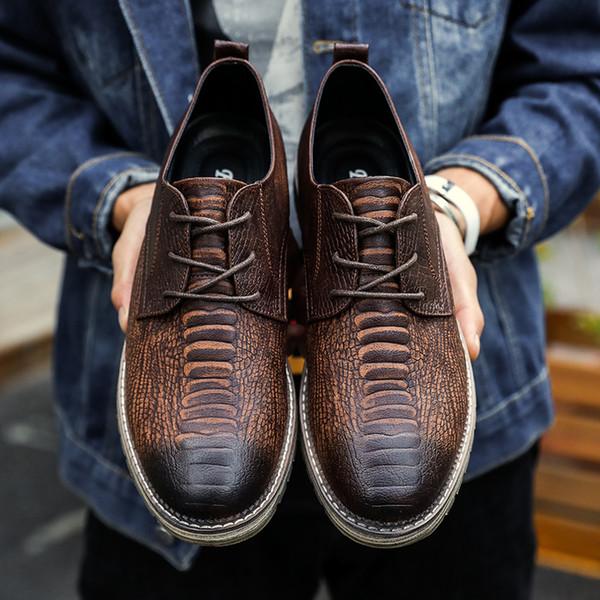 Compre Más El Hombres Tamaño 2018 Nuevos Hombres El zapatos De Cuero Oxford  0c232d 5b46a15cdbe6