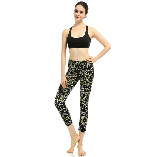 New Sexy Yoga Training Sports Pants Leggings Elastic Gym Fitness Workout Running Tights Compression Trousers