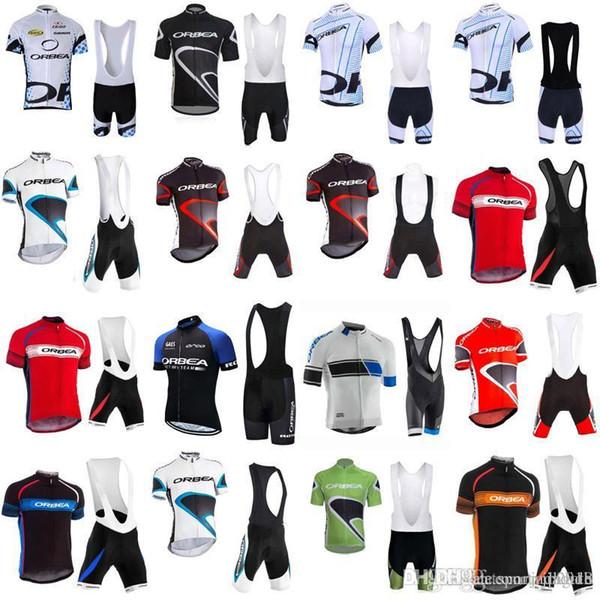 2018 ORBEA Cyclisme Jersey Ensembles Vélo Cyclisme Manches Courtes Chemise Cuissard Costume Costume D'été Hommes Vélo Vêtements Ropa Ciclismo Hombre F1109