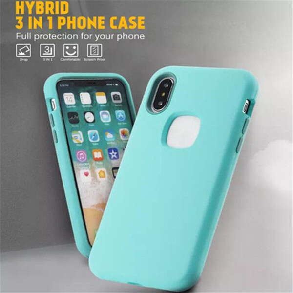 Christmas Gift Matte Finish 3 in 1 Hybrid Defender Phone Case For iPhone XR XS MAX X 8 7 6 Plus Samsung S9 Plus Note 9 LG