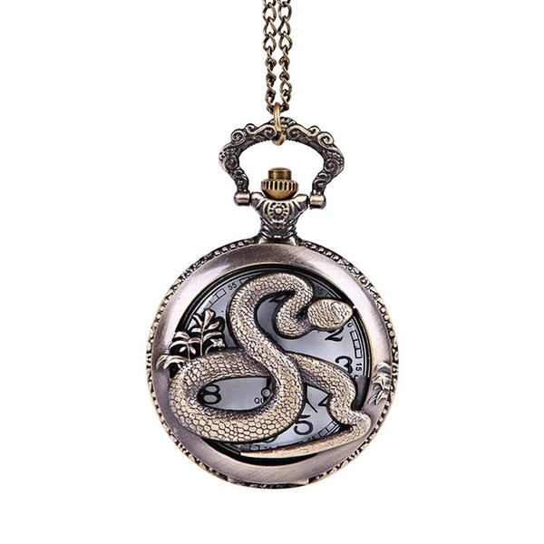MIGEER Men's stainless steel watch Vintage Chain Retro The Greatest Pocket Watch Necklace For Grandpa Dad Gifts Features: A70