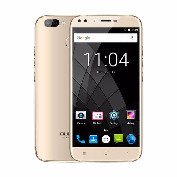 4 Cameras OUKITEL U22 Fingerprint 3G WCDMA Quad Core MTK6580 2GB 16GB Android 7.0 5.5 inch IPS 1280*720 HD 13.0MP Camera GPS WiFi Smartphone