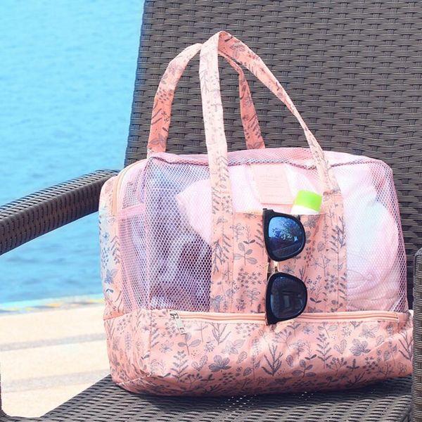 2018 Waterproof Women Travel Wash Necessary Bag Large Capacity Dry And Wet Separation Beach Swimwear Bathrobe Packs Hanging bag