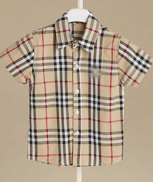 patience_168 / Em estoque 4 cores 2018 venda Quente novo estilo de verão Inglês vento camisa xadrez de algodão de alta qualidade camisa de lapela Bonito frete gr