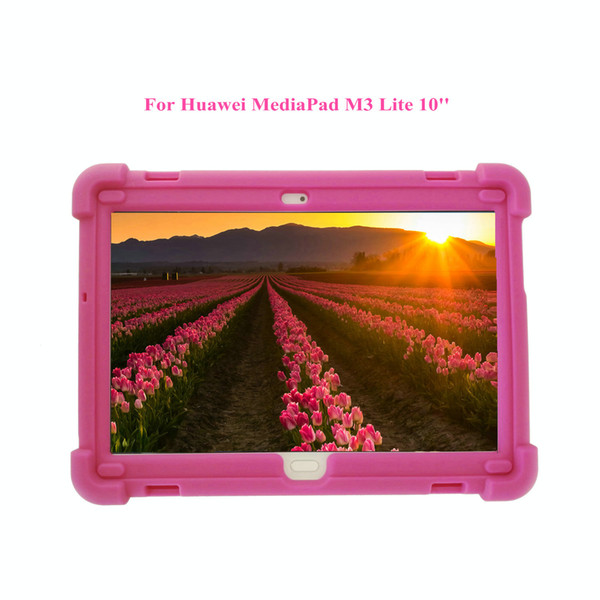 MingShore For Huawei MediaPad M3 Lite 10.1 Inch Tablet Case - Silicone Rugged Case For Huawei M3 BAH-W09 BAH-L09 BAH-AL00 Shockproof Cover