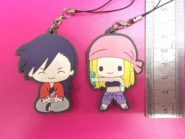 2108 New Arrival 2pcs/lot Fullmetal Alchemist Original Japanese anime figure rubber mobile phone charms/key chain/strap