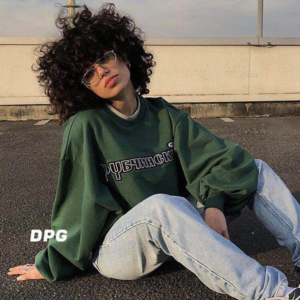 Marka Giyim Erkek Kadın Kalça Pop Boy Kazak Mektuplar Nakış Moda Tişörtü Ücretsiz Kargo