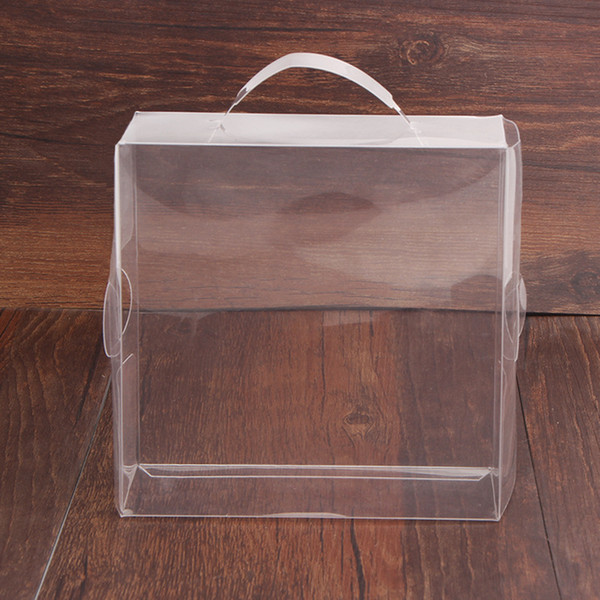 Clear PVC Plastic Gift Box / Baby Shoe Display Storage Transparent Packing Decoration Boxes 12*12*5cm Free Shipping QW8192