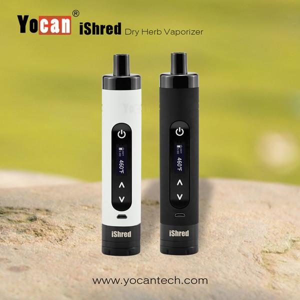Autêntico Yocan iShred Erva Seca Vaporizador Kits E Cigarro Kits 2600 mAh Vape Pen Com Embutido Erva Moedor de Tela LCD Ervas Vaporizador