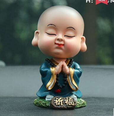 Car Decoration Car Accessories Cute Shake Little Monk Keep Safe Car High-end Decoration Products