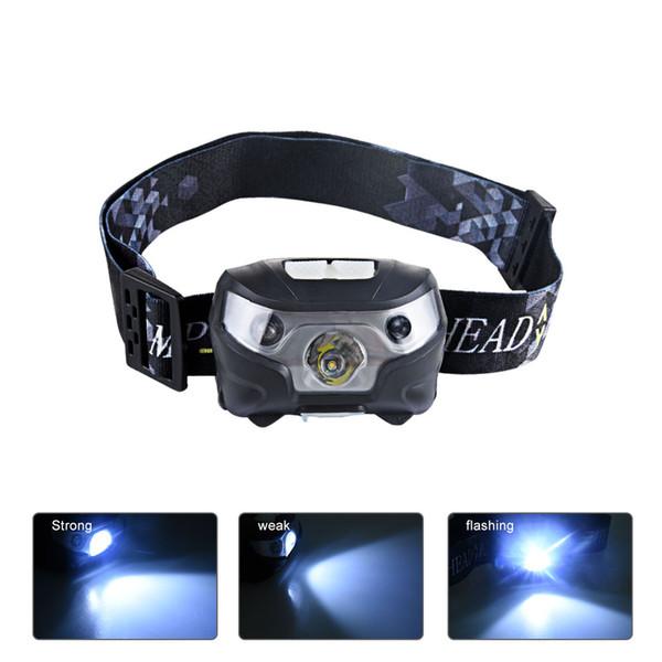 LED 3 Modes 500ML Headlamp Waterproof Motion Sensor Mini Head Lights Lamp For Camping Fishiing Emergency Lighting