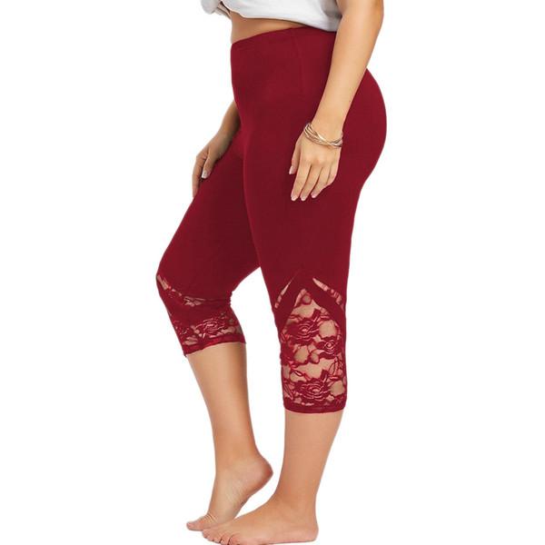 prix de la rue prix modéré rechercher les plus récents 2019 Women Sport Leggings Large Size Flower Lace Leggings Legging Femme Ete  From Quintin, $22.07 | DHgate.Com