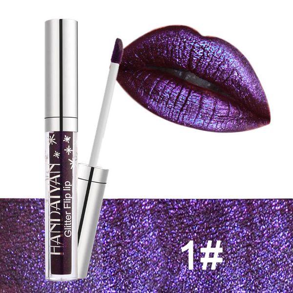 La nueva 6 colores HANDAIYAN brillo de labios luz labial antiadherente taza sirena su lápiz labial brillo de labios venta transfronteriza como pasteles calientes