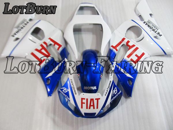Verkleidungssatz aus Kunststoff passend für Yamaha YZF R6 YZF-R6 YZF600 1998 - 2002 98 - 02 Verkleidungssatz Motorradkarosserie C831 nach Maß