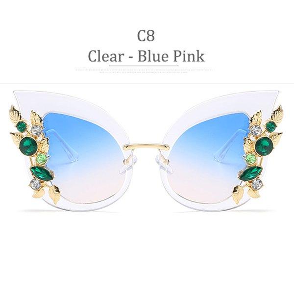 C8 Clear Frame Blue Pink