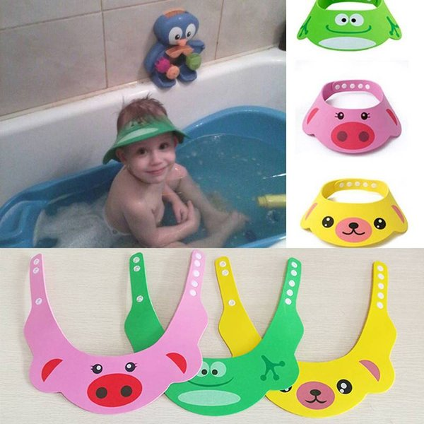 Kid Baby Waterproof Bathing Cap Adjustable Shampoo Shower Protect Hat Visor 2018 Yew Arrival High Quality
