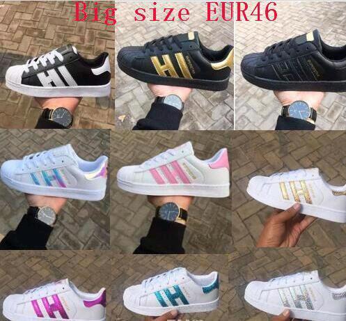 Ücretsiz kargo Marka indirim prcie Erkekler Kadınlar Düz alt plaka doğrudan satış iş renkleri süperstar ayakkabı rahat ayakkabılar çift ayakkabı