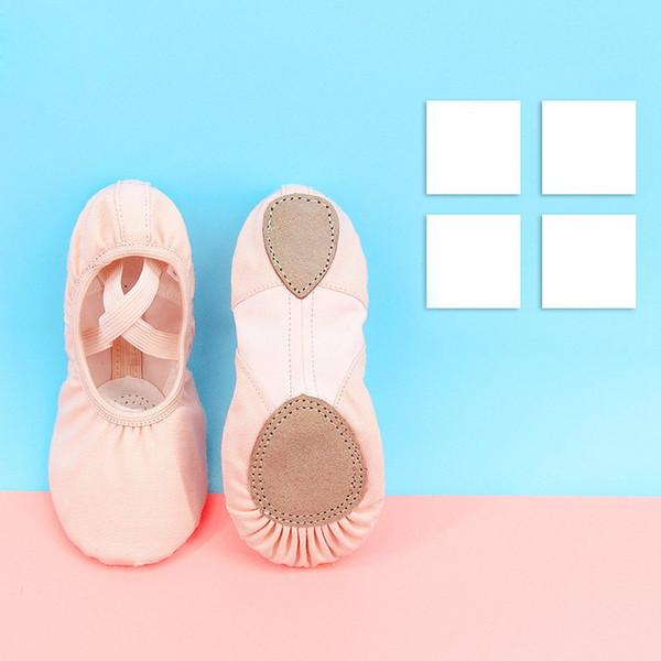 Professional Children Cotton Canvas Flexible Ballet Dance Shoes Girls Kids Soft Sole Flat Shoes For Dance
