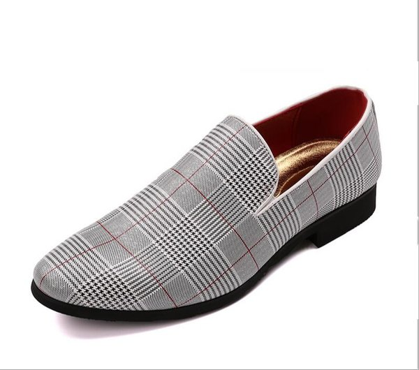 New Luxury men shoes chequered leather men's casual shoes Handmade luxurious flats men's fashion loafers 1nx30