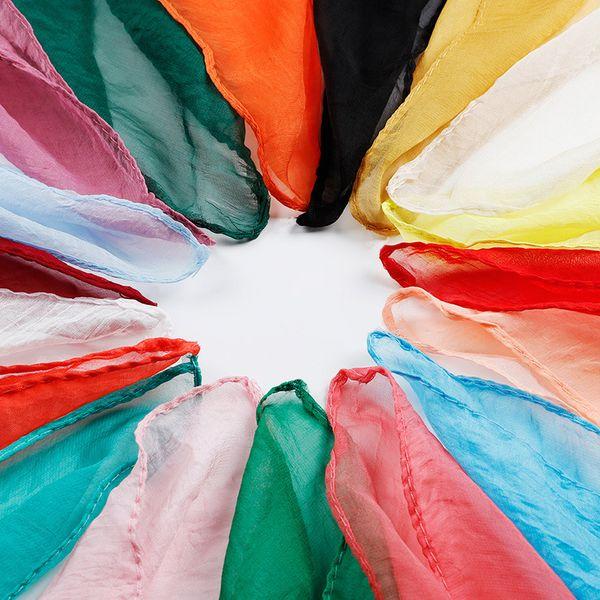 Wholesale 38 Solid Colors Chiffon Scarf 70*70cm Designer Scarf Women Hijab Shawls Pashmina Head Wrap Scarves Table Blanket Beach Towel
