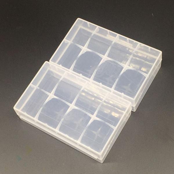 20700 21700 Taşınabilir Plastik Kasa Kutusu Güvenlik Tutucu Saklama Kabı Lityum iyon Pil Şarj için Temizle Paketi Mech Wrap DHL Ücretsiz