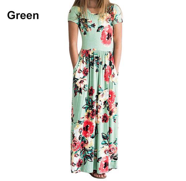 1 a 8 años Vestidos largos florales de verano para niñas bebés, Ropa bohemia de moda, Ropa de playa, Ropa de niños boutique, Venta al por menor, R1AA806DS-06