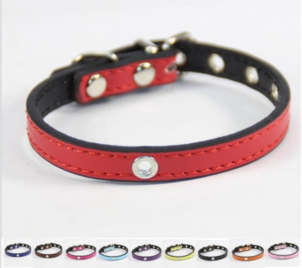 2018 Pure Color Pet Supplies Collars Diy Hollow Design Pu Small Dog Cat Collar Top Quanlity J22 From Fyfavon123 1 07 Dhgate Com