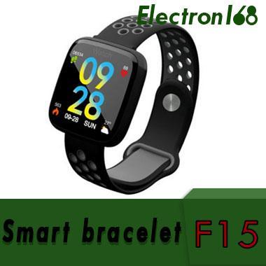 F15 sports smart bracelet heart rate blood pressure blood oxygen fitness machine alarm message reminder for xiaomi mi3 20pcs DHL