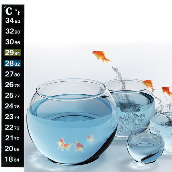 top popular Aquarium Fish Tank Thermometer Temperature Sticker Digital Dual Scale Stick-on High Quality Durable c669 2021