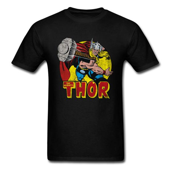 Thor Springs Into Action Tops Men T Shirt Classic Tshirt Crewneck 100% Cotton Mens T Shirts Birthday T Shirt Custom Short Sleeve