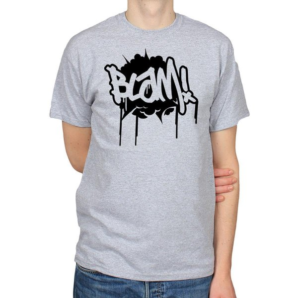 BLAM! COMIC BOOK ART CARTOON EXPLOSION GRAFFITI ART DRAWING T-SHIRT TEE