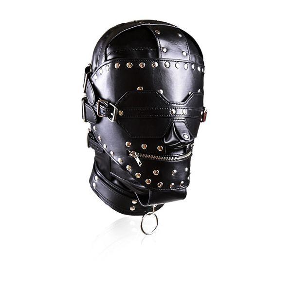 Mais legal bdsm sexo capuz bondage cabeça máscara fetiche jogo sexual hardcore acessórios para o partido de couro do falso para as mulheres negras