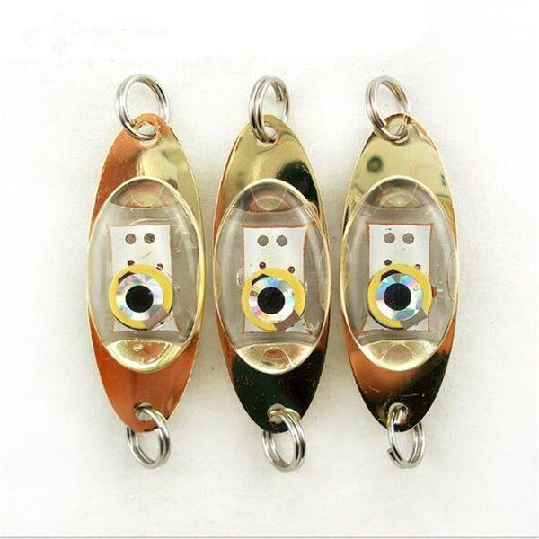 LED Night Fishing Light Hooks Deep Drop Underwater Eye Shape Fishing Squid Fish Lure Light Flashing Lamp