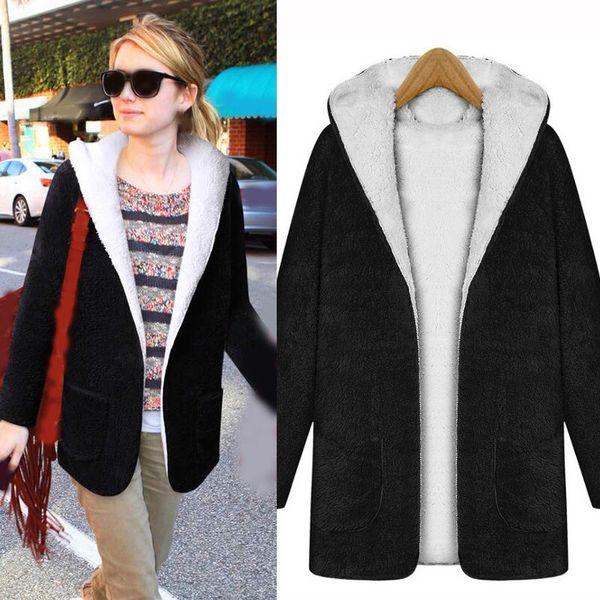 2018 Sonbahar Kış Kadın Faux Kürk Ceket Giyim Zarif Sıcak Kürk Ceket Rahat Kadın Palto Teddy Coat