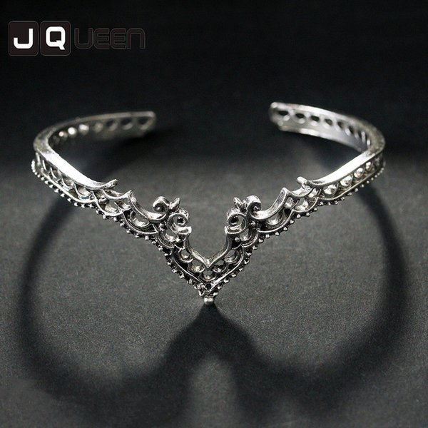 2017 New Arrival Vintage exaggerated hollow-out pattern lace Accessories Trendy Jewelry Concise Alloy Charm bracelet.