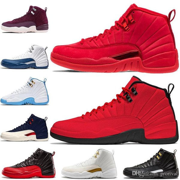 New 12 12s Bulls Gym Red Michigan Mens Basketball Shoes UNC taxi Nubuck College Navy Flu Game french gamma blue Zapatos Sports sneakers